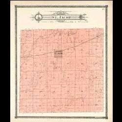 1906 Atlas of Madison County Illinois   IL Plat Book Directory Maps