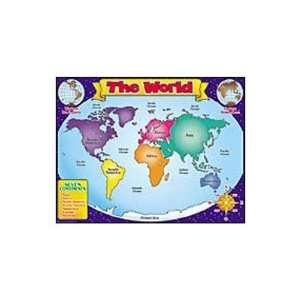 Chart  World Map Toys & Games