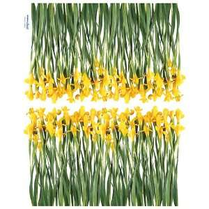 Reusable Decoration Wall Sticker Decal   Yellow Iris Flower Baby