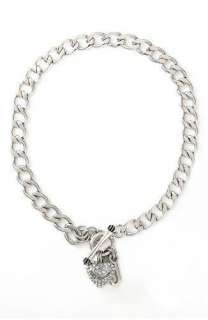 New In Gift Box JUICY COUTURE Gold Crystals Pave Heart Charm Toggle