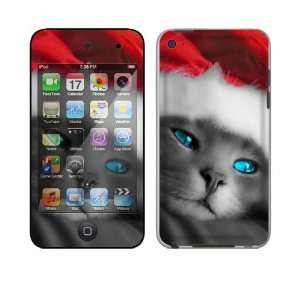 Apple iPod Touch 4th Gen Skin Decal Sticker   Christmas Kitty Cat