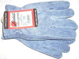 Lambert SW40PL Blue Suede Leather Gloves Sherpa LG New