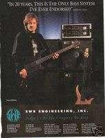 JOHN PAUL JONES Led Zeppelin SWR Bass Systems 1995 Ad
