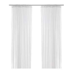 IKEA Lill Sheer White Curtains 2 panels 98 x 110