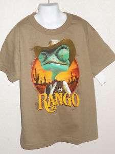 RANGO New JOHNNY DEPP Childrens MOVIE T shirt RARE HTF