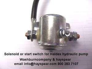 JSB Barnes Haldex 12 volt Hydraulic pump solenoid 12 v