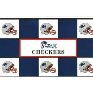 Patriots vs. New York Jets NFL Team Checkers Game Toys & Games