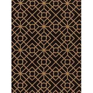 Schumacher Sch 5000386 Luan Fretwork   Black Wallpaper