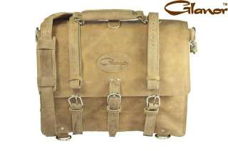 BC100NL Glanor Buffalo Leather Briefcase Laptop Backpack Bag M