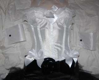 Bunny Corset Sexy Halloween Costume Sz Small Medium Large or X Large
