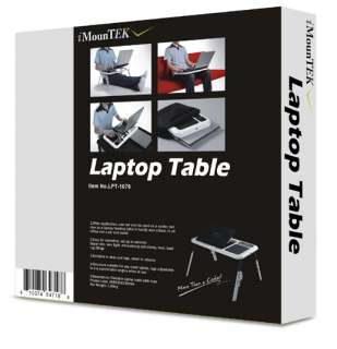 New Laptop USB Folding Table w/2 Cooling Fan+Mouse Pad