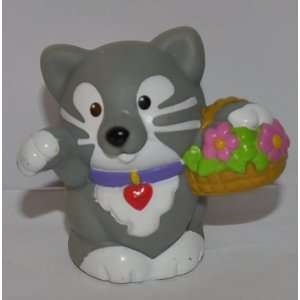 Little People Gray Kitten Kitty Cat 2001   Replacement