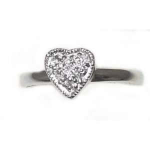 Just Give Me Jewels Sterling Silver Plated Heart Ring with