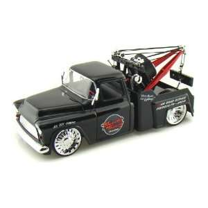 1955 Chevy Stepside Tow Truck 1/24 Black Toys & Games