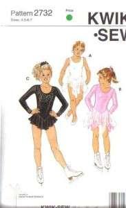 Kwik Sew Sewing Pattern Unitard Leotard Dance Ice Skating Costume