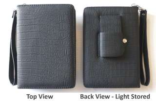 NEW BLACK  Kindle TOUCH Light Lighted Leather Case Cover