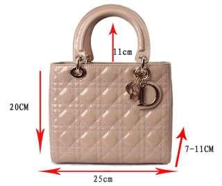 Genuine Leather Quilted Purse Bag Handbag Tote Satchel