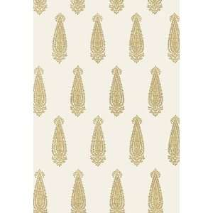 Katara Paisley Straw by F Schumacher Wallpaper Home