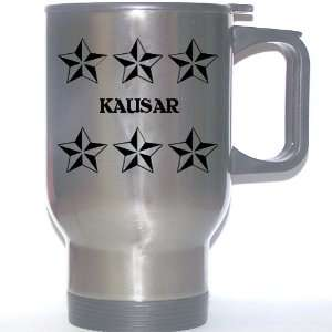 Personal Name Gift   KAUSAR Stainless Steel Mug (black