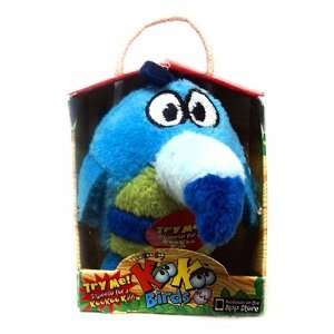 KooKoo Birds 2 Inch Flocked Mini Plush #102 Blue Nosed