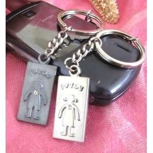 Couple Love Keychain Key Ring Girl & Boy  Love You