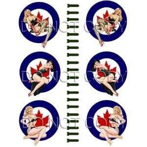 Canadian Bomber Art WWII Pinup Girl Decals #77 Musical Instruments