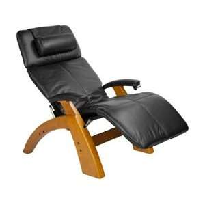 Manual Zero Gravity Recliner with Maple Base, Black Premium All L