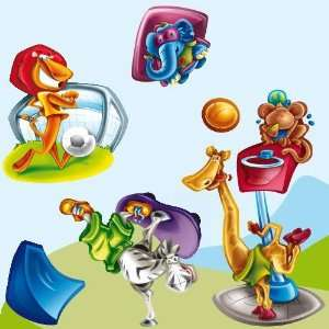 Sport   Giant Wall Sticker Decals (Kit 51.2 x 43.3 Inches
