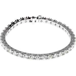 Genuine IceCarats Designer Jewelry Gift 18K Yellow Gold Diamond Tennis