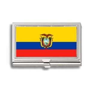 Ecuadorian Flag Business Card Holder Metal Case