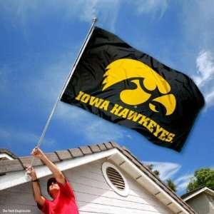 Iowa Hawkeyes Black University Large College Flag