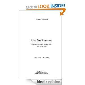 Une être humaine (French Edition) Marina Missier  Kindle
