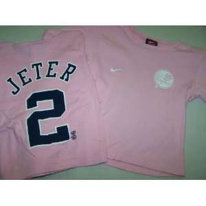 New York Yankees Derek Jeter Pink Nike Youth Long Sleeve T