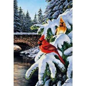 Winter Bridge Cardinals Jigsaw Puzzle 1000pc Toys & Games