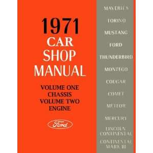 1971 FORD FAIRLANE MUSTANG GALAXIE etc Service Manual