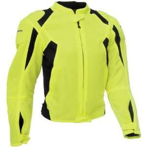 Firstgear Mesh Tex Day Glo/Black Womens Textile Jacket (M
