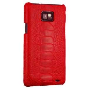 Genuine Ostrich Leather Snap On Case, Red Cell Phones & Accessories