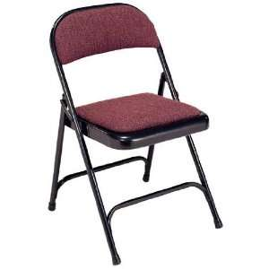Virco 188 Padded Seat and Back Folding Chair  Charcoal Black Frame