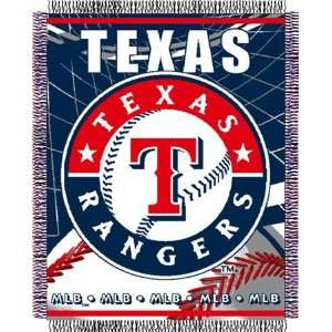 Texas Rangers Major League Baseball Woven Jacquard Throw