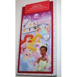 Disney Princess Valentine Cards and Stickers Health