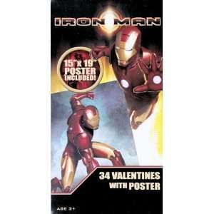 Iron Man Valentines with Free Poster Toys & Games