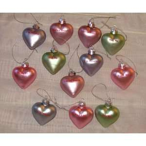 NEW S/12 VALENTINES DAY CANDY HEART ORNAMENTS