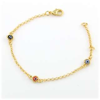 GOLD PLATED EVIL EYE GREEK MATI ( 4 mm) BRACELET