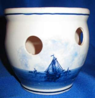 Blue Delft Hand Painted Planter Made in Holland nice J3