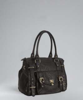 Steve Madden black faux leather BEstelle satchel