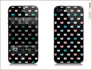 APPLE IPHONE 4G Skin Cover Sticker CUTE CAT + CLEANER
