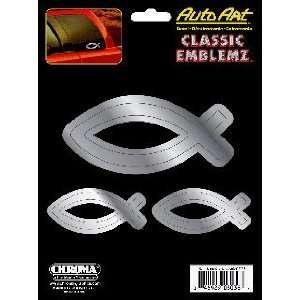 Fisher of Men (3) Classic Emblem 6 x 8 Automotive