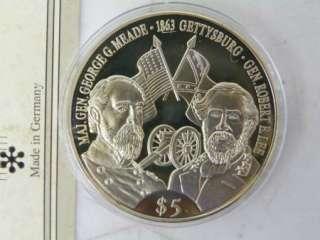 Commemorative Medals, John Wayne, Civil War, Franklin Mint A219
