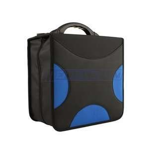 Cd DVD Album, 420 Capacity (Cd Holder Cases) in Black / Blue Cross