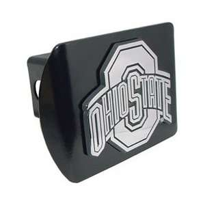 Ohio State University Buckeyes Black Trailer Hitch Cover